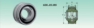 Rótula GEK...XS 2RS
