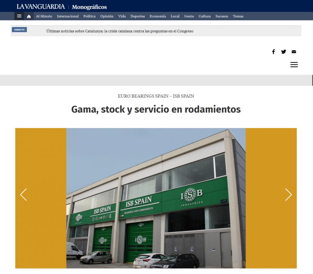 ISB Spain la vanguardia