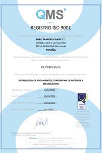 Certificado ISO Euro Bearings Spain