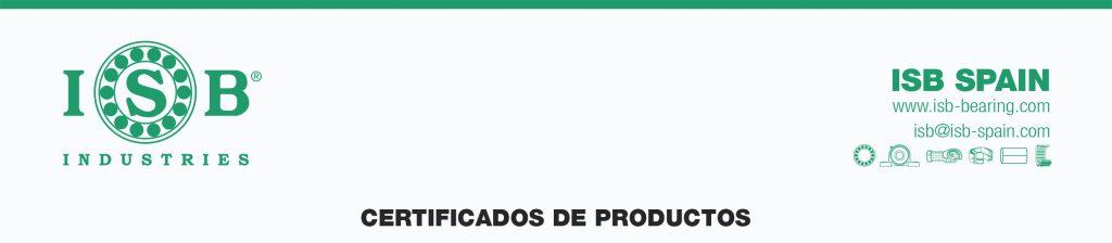 Certificados productos ISB